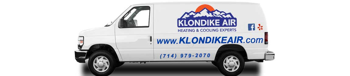 Klondike Air Conditioning Heating Orange County CA van