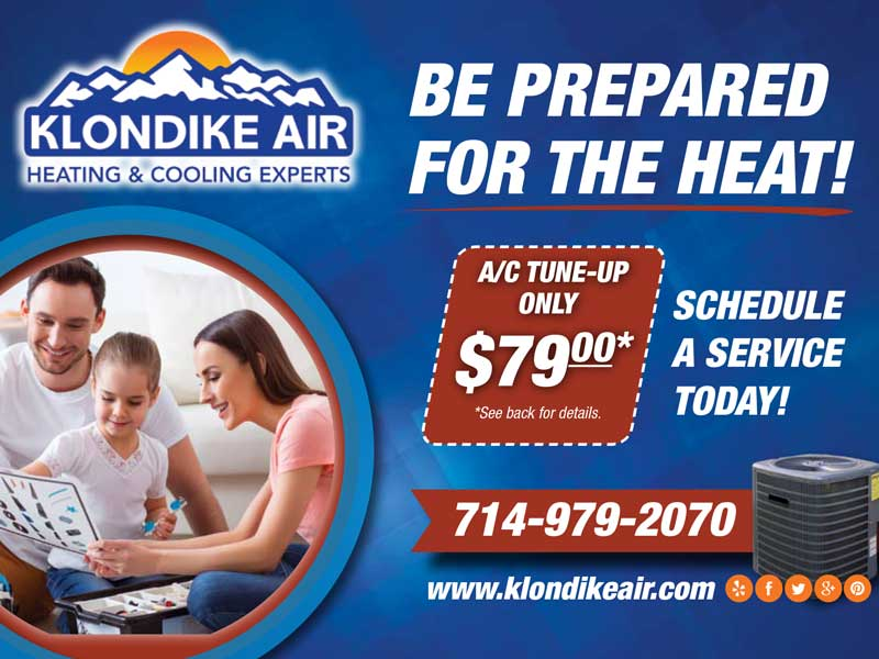 Klondike summer air conditioning tune up special